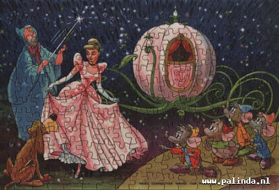 Cinderella : Fairy godmother waves her magic wand. 1